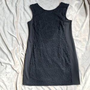 Black Lace Sheath Scoop Back Dress (LBD) Apt 9